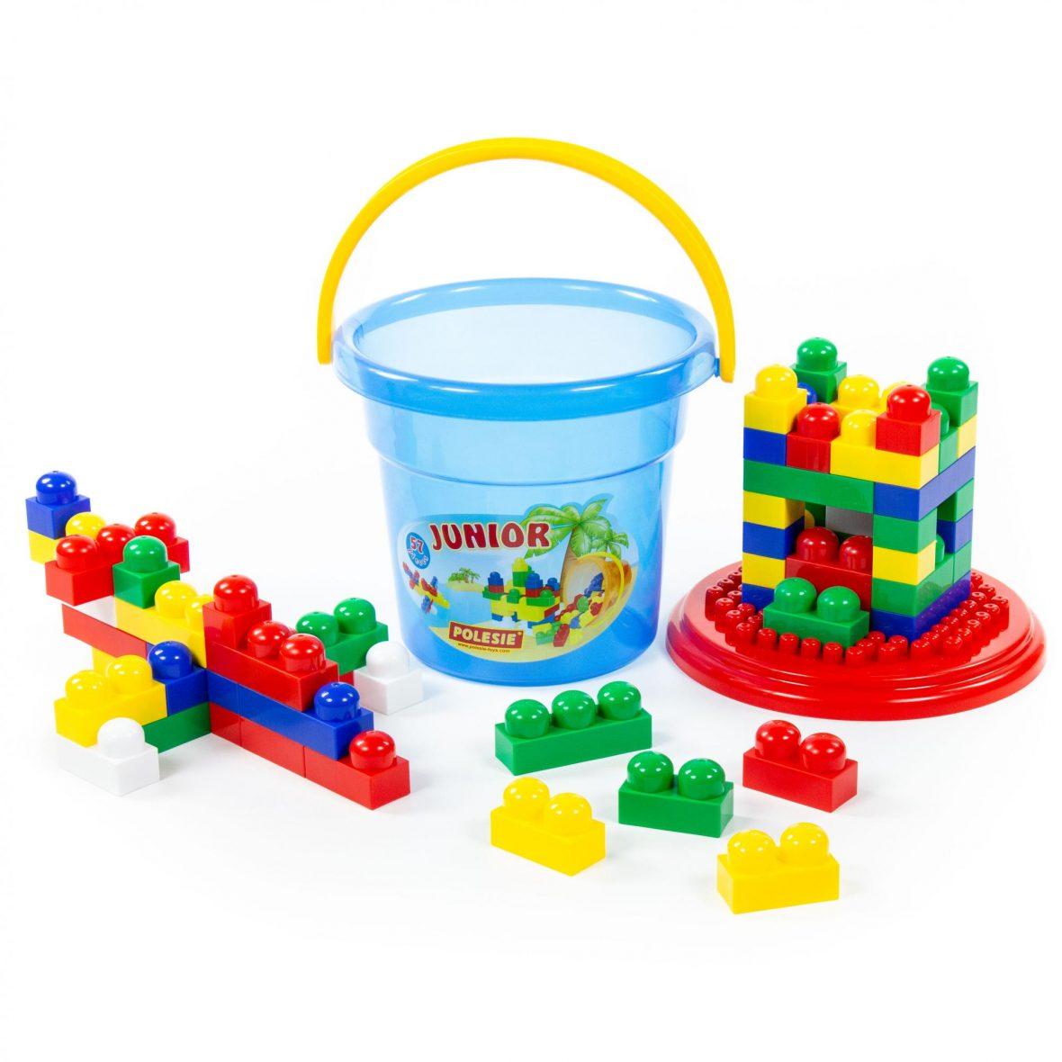 Construction set Junior 57 pcs (bucket Maxi)